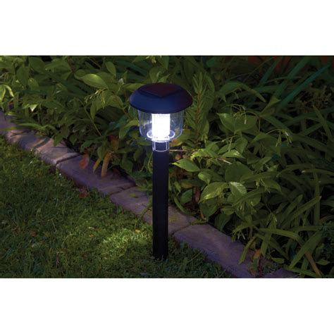 4 white led solar light set