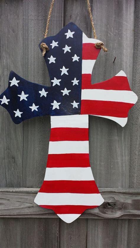 american flag cross door hanger  etsy  cross
