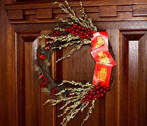 Wreath Accented with a Red Envelope as a Symbol of ...