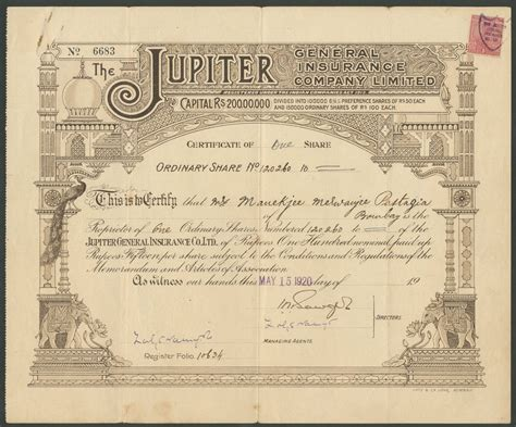 It is likely located in a special purpose vehicle (spv), which. Jupiter General Insurance Company Limited • Titolo finanziario storico • Scripomuseum