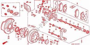 Rear Brake  Disk  For Honda Cars Civic Sir 3 Doors 4 Speed