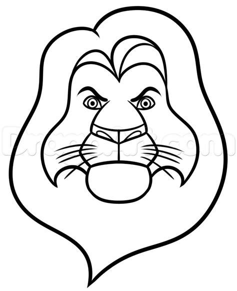 draw mufasa easy step  step disney characters