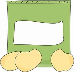 Bag of Potato Chips Clip Art - Bag of Potato Chips Image