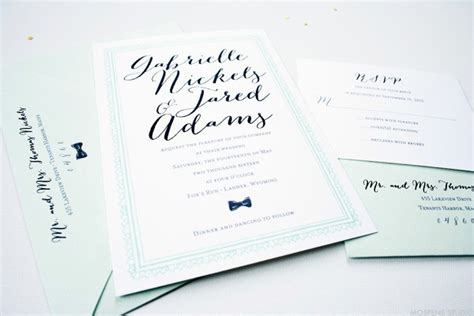 Mint To Be Vintage Wedding Invitations