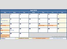 April 2019 Calendar With Holidays monthly printable calendar