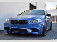 Monte Carlo Blue BMW F10 M5 Vorsteiner VFF 107 Wheels