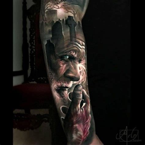 amazing wolf tree tattoo  jak connolly  equilattera
