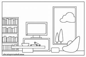 Clip Art Black And White Living Room The Shocking ...