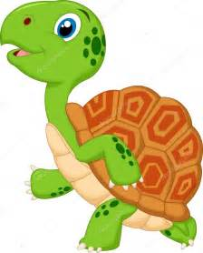 Cute Cartoon Turtle Running