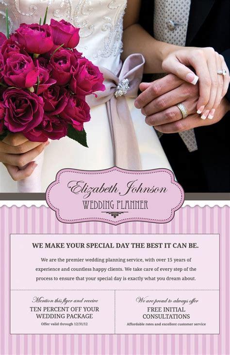 elegant psd wedding flyer templates  ms word