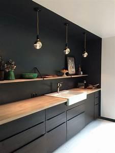 Les 20 meilleures idees de la categorie cuisine ikea noire for Idee deco cuisine avec cuisine noir et bois