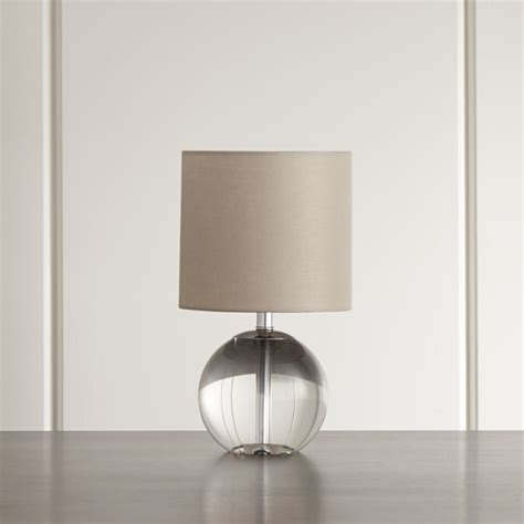 sybil globe crystal table lamp reviews crate  barrel