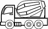 Coloring Pages Truck Construction Cement Semi Drawing Simple Printable Cars Easy Drawings Trucks Cool Vehicles Clipartmag Zoo Wecoloringpage Monster Sheets sketch template