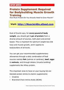 Protein Supplement Required For Bodybuilding Muscle Growth Training