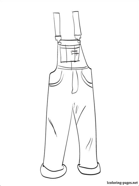 overalls coloring page coloring pages