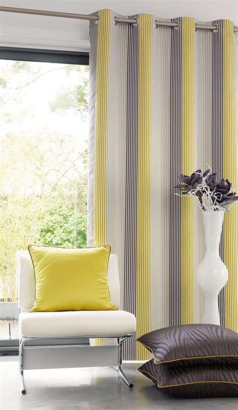 rideau jaune et gris my blog