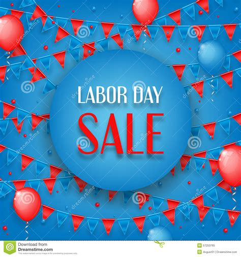 design of banner of labor day sale stock vector