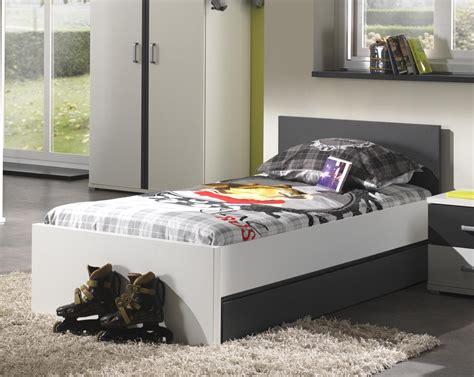 but chambre lit enfant contemporain blanc et gris joss lit chevet