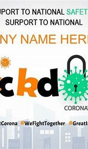 Locked Down Coronavirus Card With Name Online Free