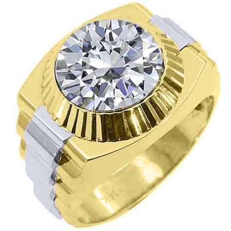 jewelry masters 1 25 carats mens two tone gold diamond rolex ring mottsol2 5495 00