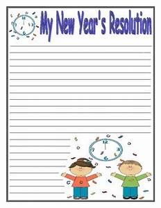 free new years resolution writing paper new years writing template