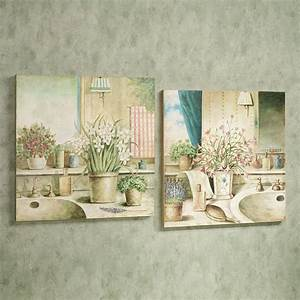 vanities in bloom wooden wall art plaque set With wall plaques for bathroom