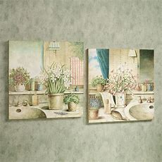 Vanities In Bloom Wooden Wall Art Plaque Set