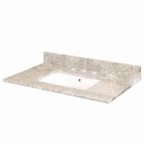 Home Depot Pegasus Farmhouse Sink by Pegasus 37 In W Granite Vanity Top In Golden Hill With