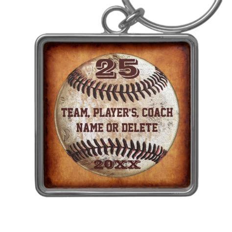 3 text templates gifts for baseball players coach keychain zazzle