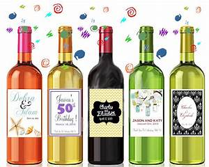 Wine bottle labels personalized with your information for How to put labels on bottles