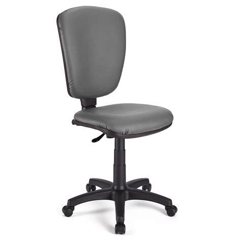 senza in ufficio sedia da ufficio calipso senza braccioli pelle in grigio