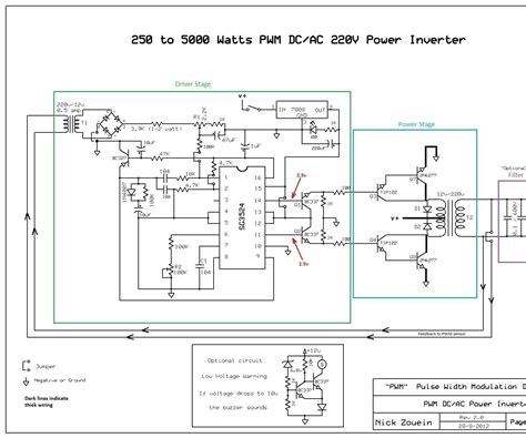 Pure Sine Wave Inverter Circuit Diagram Using Sg3524