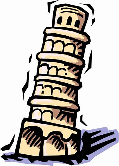 Clipart Tower Pisa Bauen Turm Leaning Italy