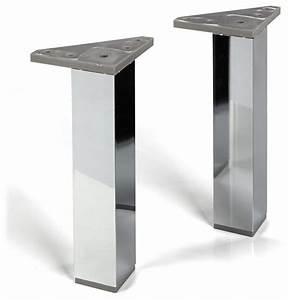 Pied Pour Meuble Salle De Bain : nexo lot de 2 pieds pour meuble de salle de bains ~ Dailycaller-alerts.com Idées de Décoration