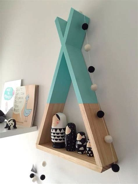 teepee shelf mint shelves woodland nursery decor tribal