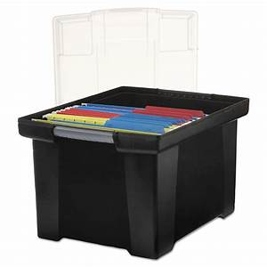 Plastic File Tote Storage Box by Storex STX61528U01C ...