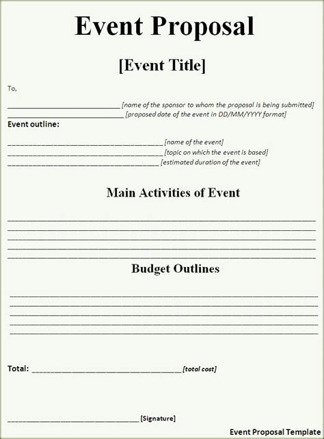 craft  perfect event proposal template  guidebook