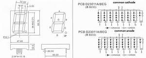 Bicolor    Dual Color 7-segment Led Digital Display 2 3 Inch