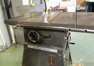 Repairing an old Rockwell/Beaver table saw