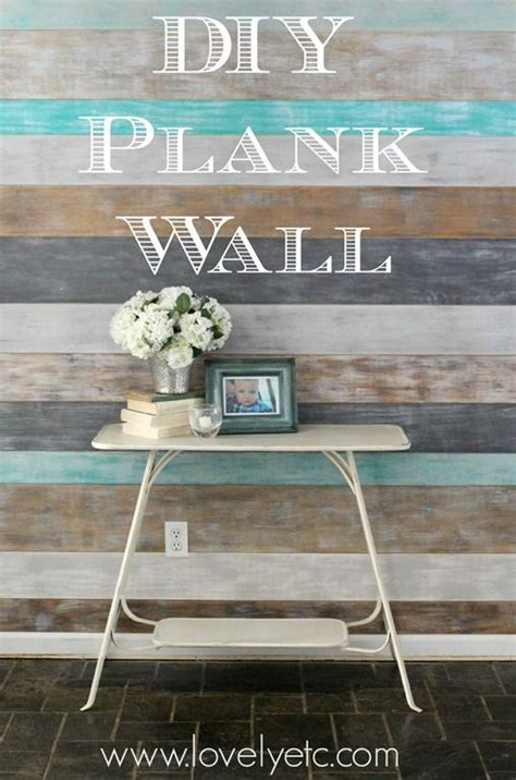 stunning diy plank wall planked walls plank  coastal