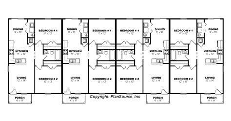 Fourplex Floor Plan   Building Plans Online   #65761