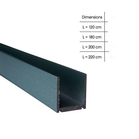 profil en aluminium en u palissade ideal composite et alu de fiberdec b a bois