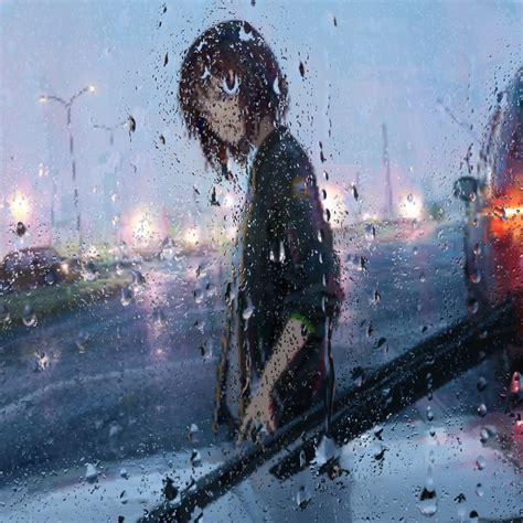 Живые обои Girl In Rain