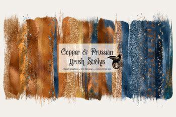 copper  prussian brush strokes  digital curio tpt