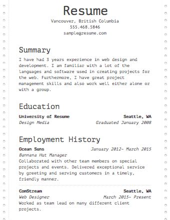 resume builder resumecom