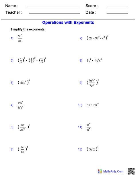 images  powers  exponents worksheet math