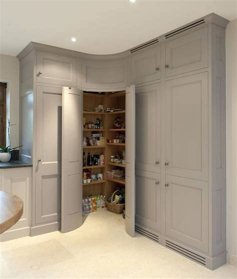 Corner Cupboards Ikea by Wardrobes Corner Pantry With Convex Curved Doors Grey