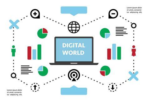 Background Image Wallpaper Digital Marketing by Free Flat Digital Marketing Vector Background