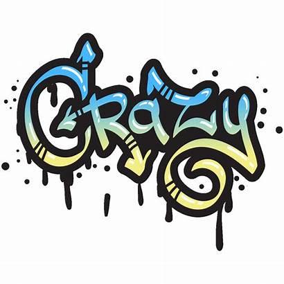 Graffiti Crazy Sticker Transparent Drawing Stickers Ambiance