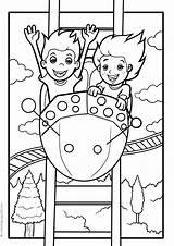 Park Amusement Coloring Pages Activities sketch template